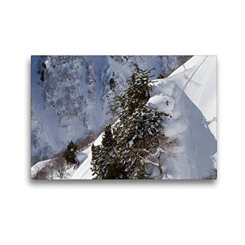 Calvendo Premium Textil-Leinwand 45 cm x 30 cm quer, Hakuba/Japan, Rider: Tom Schuster | Wandbild, Bild auf Keilrahmen, Fertigbild auf echter Leinwand, Leinwanddruck Sport Sport -