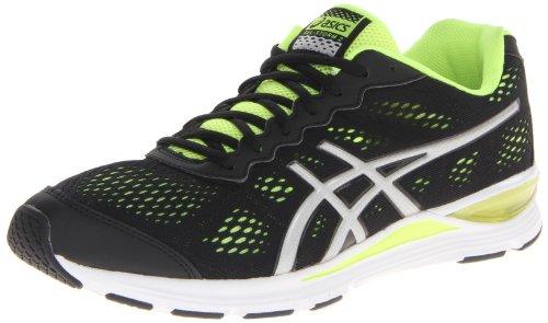 Asics Men's Gel Storm 2 Running Shoe,Black/Silver/Flash Yellow,8 M US