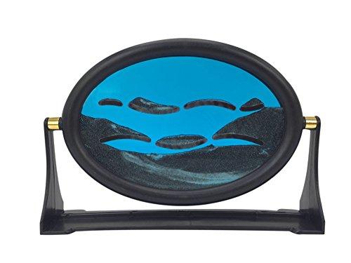PROW® Blaue Sand Malerei 3D Entlastung mountain View Sand Landschaft Moving Sand Malerei mit kreisförmigen Rahmen Anpassung Arbeit Stress