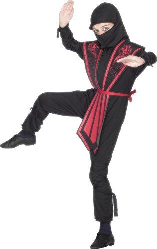 enthält Jumpsuit mit Kapuze Ohrteil Gürtel und Bänder, Small (Authentische Ninja Kostüme)