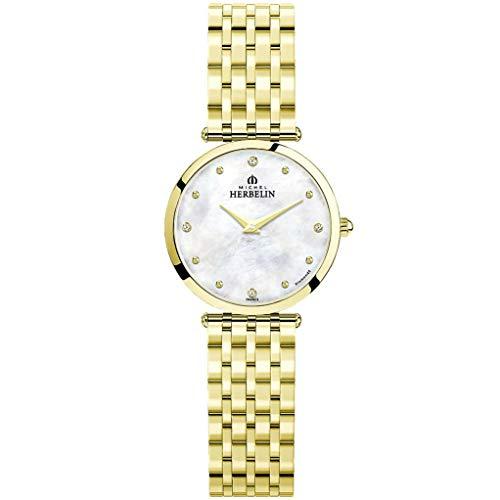 Michel Herbelin Epsilon Femme Diamant 28mm Quartz Montre 17116/BP89