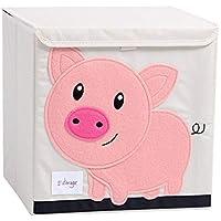 Preisvergleich für Pasutewel aufbewahrungsbox Kinder,aufbewahrungsbox kinderzimmer, große kapazität Faltbare Cartoon leinwand Cube lagerung Kleidung, Schuhe, Spielzeug (Schwein)