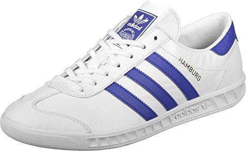 adidas Hamburg, Scarpe da Ginnastica Basse Unisex – Adulto, Taglia Unica bianco (Ftwbla / Azufue / Dormet)