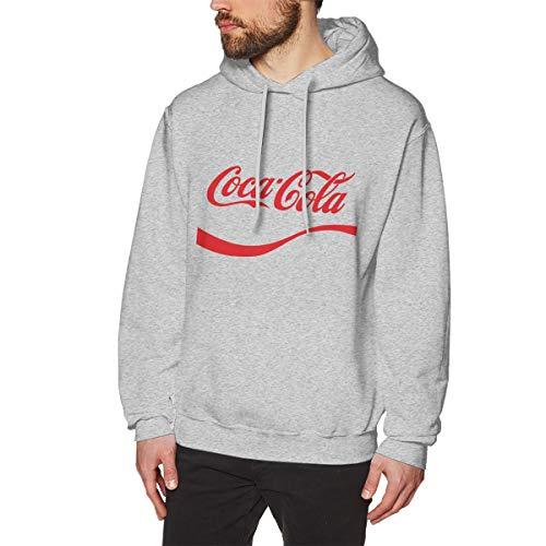 UfashionU Herren Coca Gola Graphic Hoodie Langarm Kapuzenpullover für Teenager Jungen Herren Grau S -
