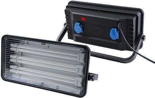 Brennenstuhl Power Jet-Light / Strahler ideal als Bauleuchte für außen und innen (Scheinwerfer IP44 geprüft, 3m Kabel, 3 x 36 Watt) Farbe: schwarz