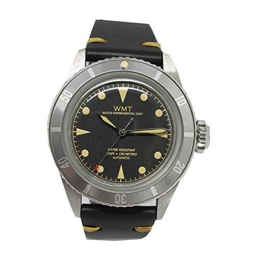 Walter Mitt Sea Diver Edelstahl 316L Automatik Miyota Schwarz Leder Unisex Uhr -