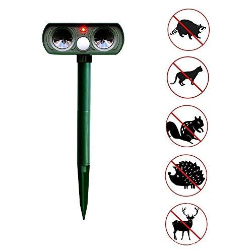 CHSHY Ultraschall-Tiertier-Und Pest-Repeller, Blinkende LED-Leuchte, Pir-Sensor, Wasserdichter AußEnladerrepeller FüR Raccoon, Katzen, Hunde, Hirsche - Pir-systems
