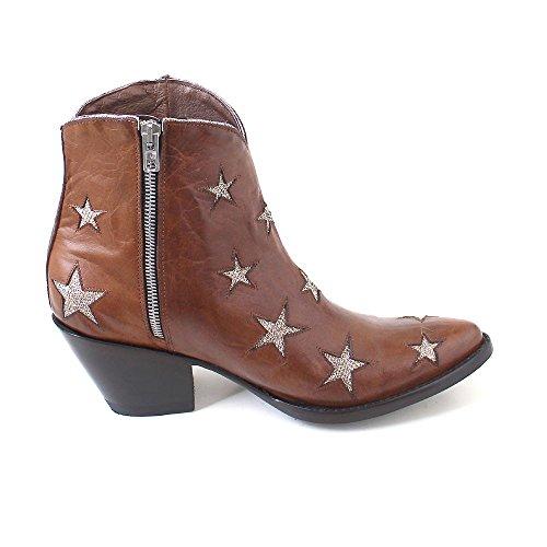 Donna Stivali Cowboy Mexicana Stivali E Giallo Oro Braun Da oryx wXx4qBp