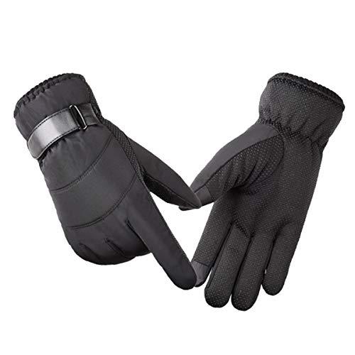 WXHXSRJ Guanti da Sci Invernali Caldi per Uomo/Donna - Outdoor Antivento/Impermeabili/Isolati/Touch Screen per Ciclismo Corsa Arrampicata Escursionismo Sport,Nero