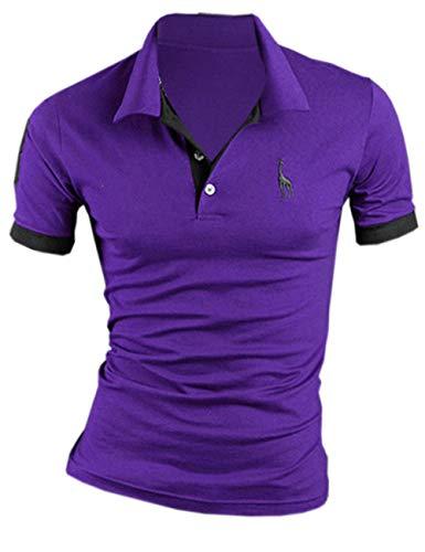 SOMTHRON Uomo T-Shirt Polo in Cotone Manica Corta Moda t-Shirt da Golf Manica Corta Elegante Taglie Forti Camicie da Tennis...