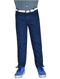 Tara Lifestyle Mod Boys Slim Fit Blue Plain Denim Jeans Pant Mod1001