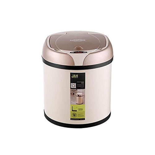 FOONEE - Cubo de Basura con Sensor de Movimiento automático, 6 L, con Tapa, Cargador USB, Sensor Inteligente para Sala de Estar, Cocina, Dormitorio, Oficina, Inodoro