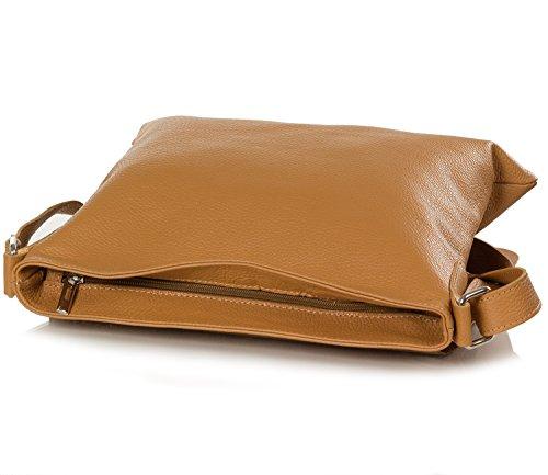 1486c527aefa8 ... Taschenloft Damen Umhängetasche - Messenger Bag aus genarbten Leder (32  x 32 x 2 cm ...