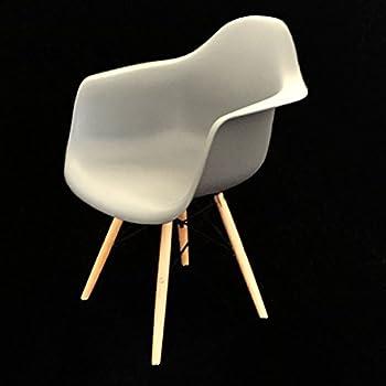 2er Set Design Stuhl Mit Armlehne, Wohnzimmer Büro Esszimmer, Retro Vintage  (Grau)