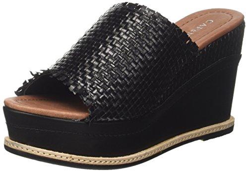 Cafènoir khe230, sandali con plateau donna, nero (nero), 38 eu