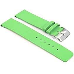 StrapsCo Modern Style Matte Green Leather Watch Strap size 30mm