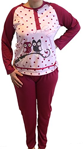 "Pyjama femme modèle ""gros pois"" Rose"