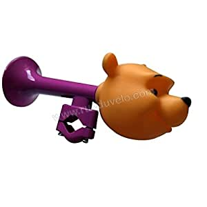 Disney Winnie the Pooh Kinder Fahrradhupe, lila / braun, 800110