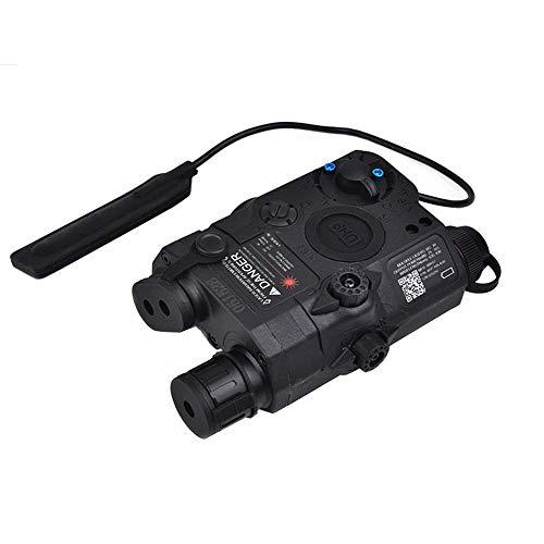 IRON JIA'S Vert Chasse Combo Laser, Lampe de Poche et Lampe Infrarouge pour viseur de Fusil Airsoft, avec télécommande Filaire sous Pression, Rails Picatinny de 20mm(Noir)