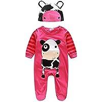 Babykleidung URSING Baby Junge M/ädchen Unisex Kleider niedlich Tier Strampelh/öschen Pyjama Mit Hut Lange /Ärmel draussen Overalls Nachtw/äsche