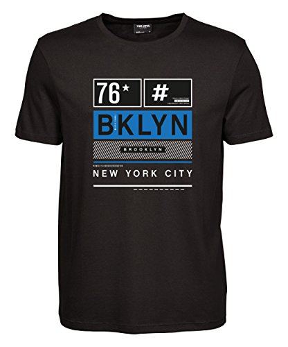 makato Herren T-Shirt Luxury Tee Brooklyn Remix Black