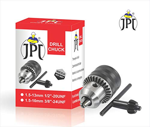 JPT 13M 1/2 inch Heavy Duty Drill Chuck with Key and SDS BIT Adapter for Impact Drills and Rotary Hammers