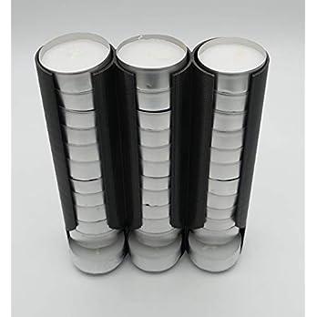 Teelichtspender für bis zu 30 Teelichter, Teelichthalter für mehr Ordnung im Schrank in classic black, saubere und…