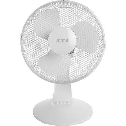 Ventilateur à poser Varma - 30 W - 3 vitesses - Blanc