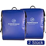 FORRIDER Fahrradtaschen für Gepäckträger zu 100% Wasserdicht 2 Stück Premium Gepäckträgertaschen Packtaschen Hinterradtaschen fürs Fahrrad