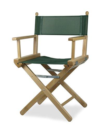 Regista P Fauteuil de metteur en scène en bois couleur naturelle et PVC Vert