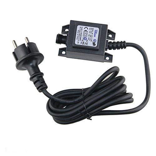VBLED® 12W Netzteil/Trafo/Transformator 12V AC wassergeschützt IP67 für aussen/außen Input 230V Output 12V Anschluss IP44 1,9 m Kabel für Gartenspot/Gartenstrahler (Max. 12W)