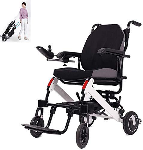 AMhuui Elektro Faltbaren Rollstuhl, Folding Ultra Intelligenter Leichtbau Scooter Ultra Light Handbuch Medical Rollstuhl Comfortable -