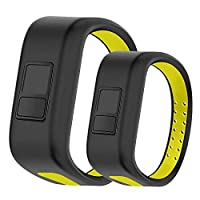 Uwatchband Compatible with Garmin Vivofit JR, Soft Silicone Breathable Replacement Strap Vivofit JR/Vivofit JR 2 / Vivofit 3 Wristbands Perfect for Kids, Small Large Size Together