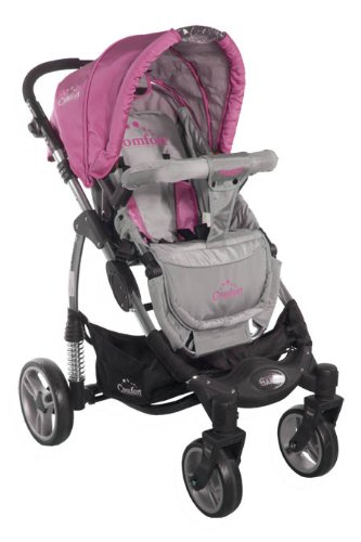 2in1 Travel Set ARTI Comfort B503 2w1 Pink/Gray Babypram and Pushchair/ Baby Stroller   5