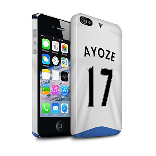 Offiziell Newcastle United FC Hülle / Glanz Snap-On Case für Apple iPhone 4/4S / Pack 29pcs Muster / NUFC Trikot Home 15/16 Kollektion Ayoze