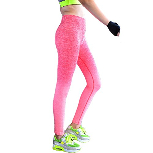 Laixing 4 Color Women's Sports Pants Yoga Guêtres Workout Pant Running Pant red