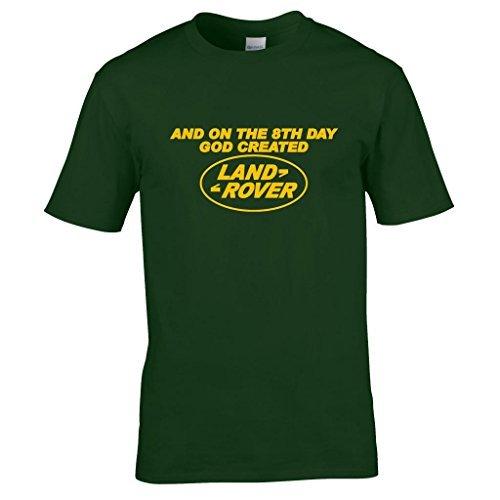 naughtees-vetement-et-de-la-8e-jour-god-cree-land-rover-t-shirt-vert-foret-2xl