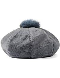 Berretto Francese Cappello da Donna con Imbottitura Morbida e Morbida per  Capelli (Colore   Blu a1b1456c4a13