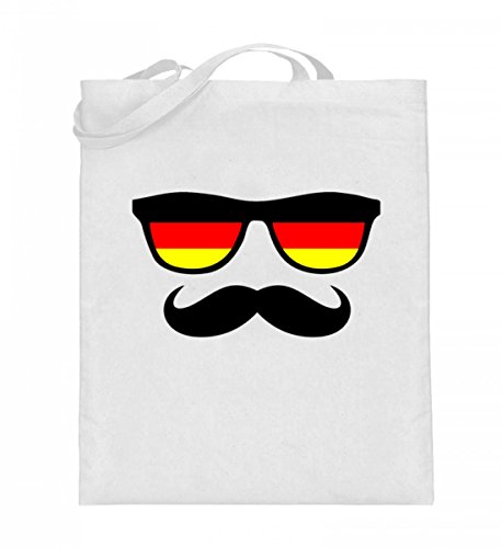 Deutschland Sonnenbrille Fußball Schnäuzer Bart - Schlichtes Und Witziges Design - Jutebeutel (mit langen Henkeln)