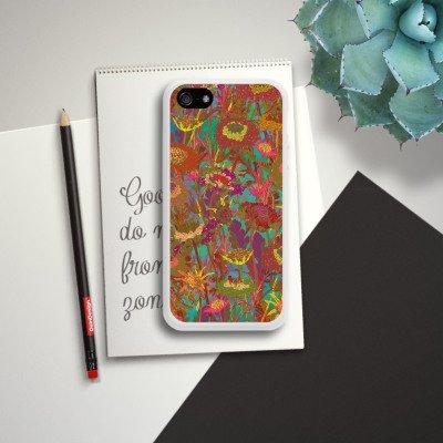 Apple iPhone SE Housse Outdoor Étui militaire Coque Prairie Fleurs Fleurs Housse en silicone blanc