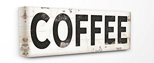 Stupell Industries Kaffee Typografie Vintage Schild Gespannte Leinwand Art Wand, -