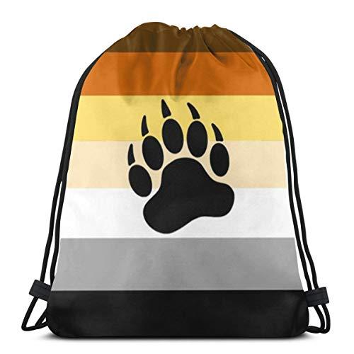 67068d80386b Gay Bear 3D Print Drawstring Backpack Rucksack Shoulder Bags Gym Bag For  Adult 16.9