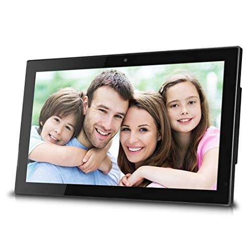 CCDYLQ Digitaler Fotorahmen 21,5-Zoll-LCD-Bildschirm Widescreen HD 16: 9 Digitaler Fotorahmen unterstützt MP3-MP4-Video-Player Kalender Zufälliger Wiedergabemodus Bilder-Player mit Fernbedienung Widescreen-hd-lcd