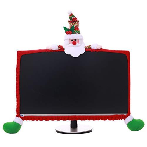 LCDY Weihnachtsdekoration Computer-Set Dreidimensionale Cartoon-Dekoration Weihnachtsset Vliesstoff, 1
