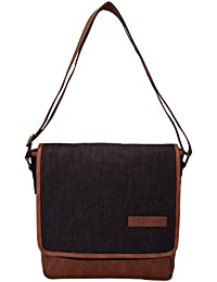 Aekyam Cross Body Small Travel Bag (Black, Brown)
