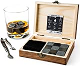 Best Birthday Gifts For All Birthday Gift For Dads - Whisky Stones Gift Set - 9 Whiskey Rocks Review