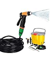 Sevia 12V DC High Pressure Portable Car Washer, Water Spray Gun Bucket Car Washer for Garden/Car/Bike/Pet Wash -16 Liter Tank
