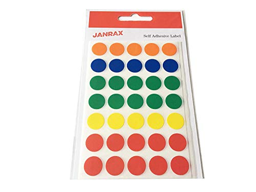 janrax 13 mm Round Labels Self Adhesive Stickers - Pack of 140