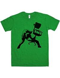 Refugeek Tees - Herren Banksy T Shirt - Office Chair Clash
