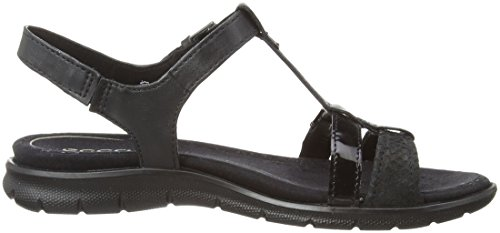 ECCO Babette Sandal Black Feather, Mocassini Donna Nero (Sandal Black/Black Fea/Clod/Paten51052)
